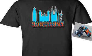 EXCLUSIVE TEE SHIRT to match the NIKE AIR JORDAN 7 VII BARCELONA DAYS OR NIGHTS-CITY