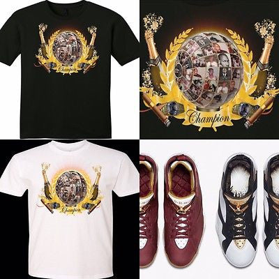 OUR EXCLUSIVE TEE /T-SHIRT to match the AIR JORDAN 7 CIGARS & CHAMPAGNE CHAMP PACK!