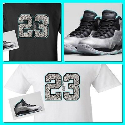 "EXCLUSIVE TEE SHIRT to match the NIKE AIR JORDAN X 10 LADY LIBERTY! ""23 LIBERTY"""