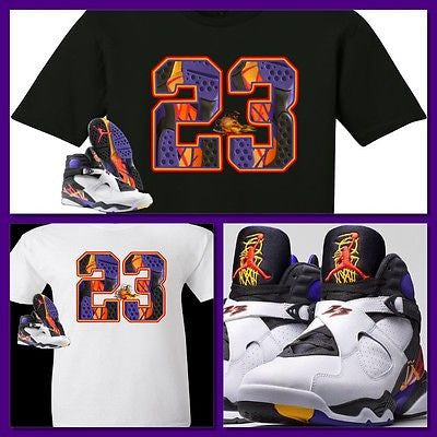 76b054ada361 EXCLUSIVE TEE SHIRT to match the NIKE AIR JORDAN 8 THREE-PEAT 3 PEAT