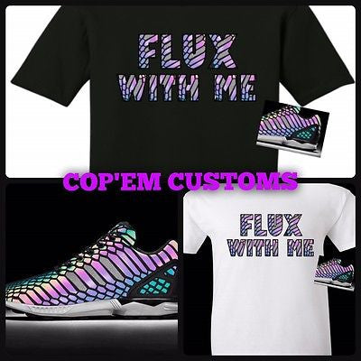 "EXCLUSIVE TEE SHIRT to match the ADIDAS ZX FLUX XENOPELTIS XENOS - ""FLUX WITH ME"""