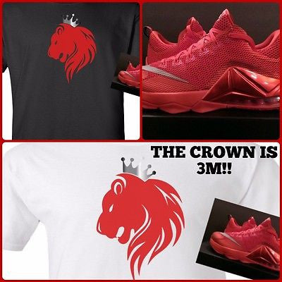 EXCLUSIVE SHIRT WITH 3M to match the NIKE LEBRON 12 LOW VARSITY REDS!