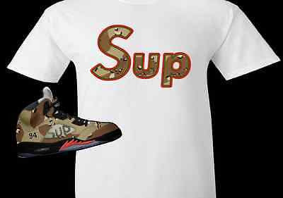 29f590f984158b SUP CAMO  EXCLUSIVE TEE SHIRT to match the SUPREME AIR JORDAN 5 COLLAB  CAMO S!