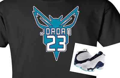 "EXCLUSIVE TEE SHIRT to match NIKE AIR JORDANS 13 XIII LOW or JORDAN 7 ""HORNETS""!"