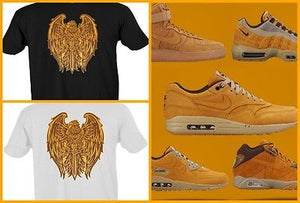 EXCLUSIVE TEE to match ANY NIKE/JORDAN/REEBOK/ADIDAS/TIMBERLAND/SUPREME WHEAT's!