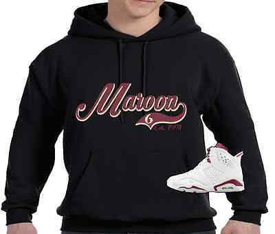 EXCLUSIVE HOODIE to match the NIKE AIR JORDAN 6 MAROON'S!