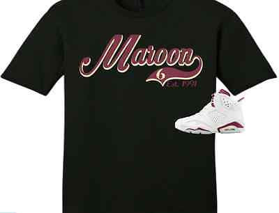 EXCLUSIVE TEE / T-SHIRT to match the NIKE AIR JORDAN 6 MAROON'S!