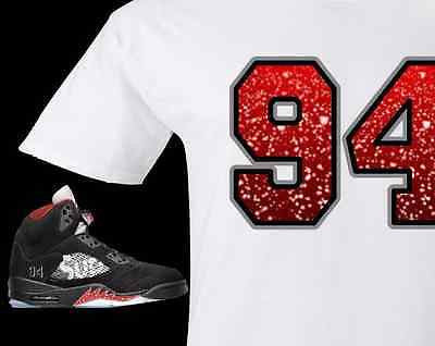 EXCLUSIVE TEE SHIRT to match the SUPREME AIR JORDAN 5 COLLAB BLACK/WHITE! 94