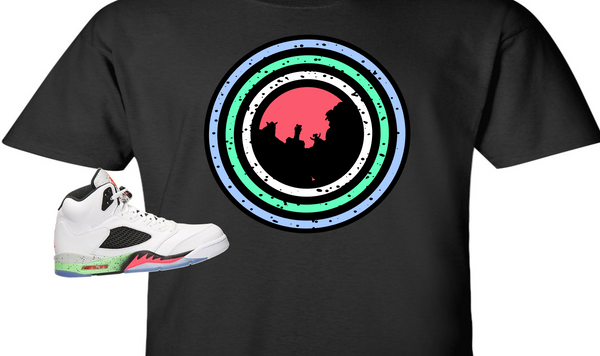 "EXCLUSIVE TEE /T-SHIRT to match the NIKE AIR JORDAN V 5 SPACE JAM ""MONSTER TUNNEL"""