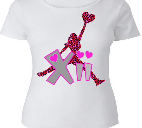 LADIES / WOMENS TEE SHIRT to match the NIKE JORDAN XII 12 VALENTINE! JUMP