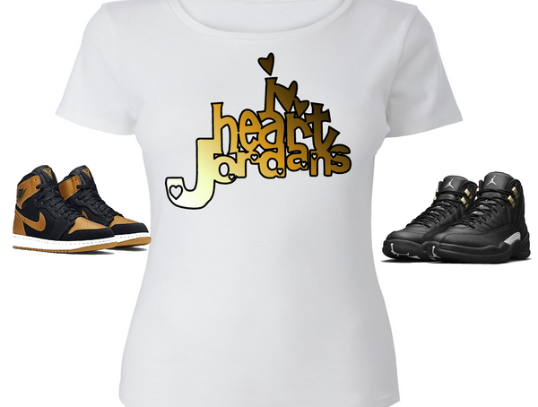 LADIES / WOMENS TEE SHIRT to match the NIKE JORDAN XII 12 MASTERS!