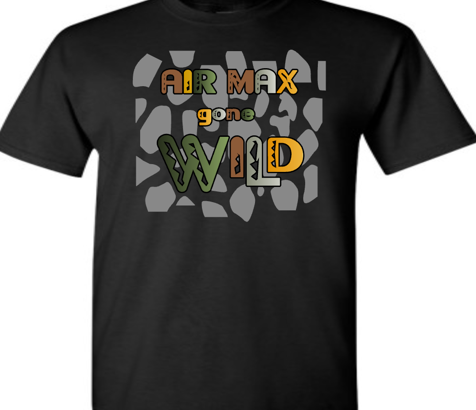 "EXCLUSIVE TEE SHIRT to match the NIKE AIR MAX 1 SAFARI! ""AIR MAX GONE WILD"""