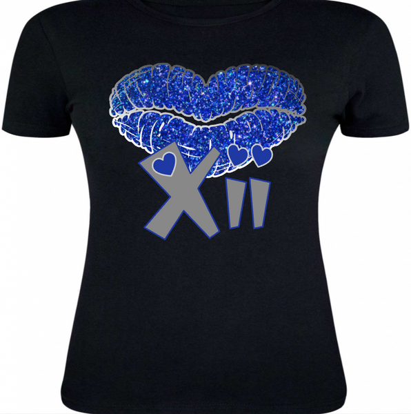 LADIES / WOMENS TEE SHIRT to match the NIKE JORDAN XII 12 FRENCH BLUE!