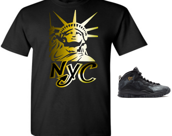 EXCLUSIVE SHIRT to match the NIKE AIR JORDAN X 10 NYC! LIBERTY NYC