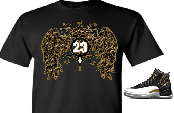 EXCLUSIVE SHIRT to match the NIKE AIR JORDAN 12 RETRO WINGS! 23 WINGS