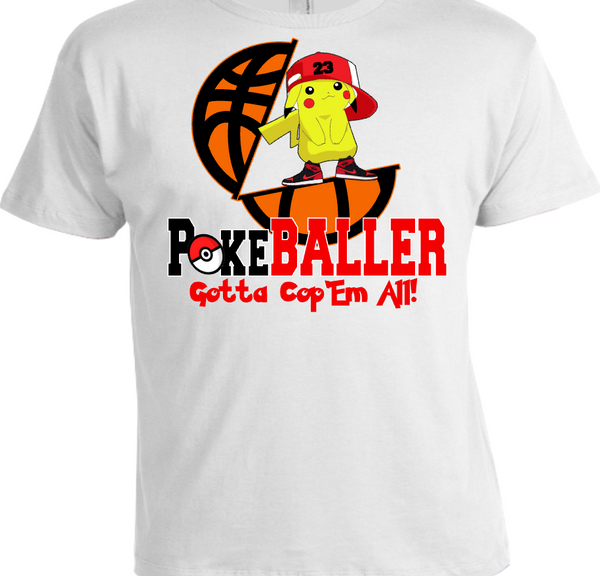 OUR EXCLUSIVE POKEMON-BALLER TEE/T-SHIRT #2 to match ANY of your kicks!
