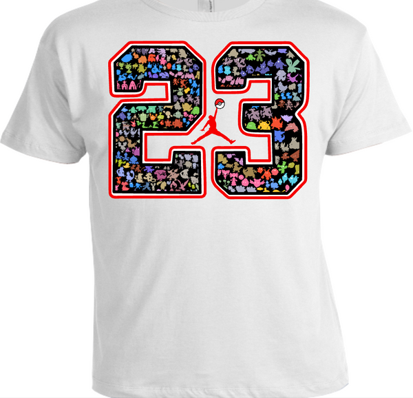 OUR EXCLUSIVE POKEMON/JORDAN TEE/T-SHIRT to match ANY of your NIKE AIR JORDANS!