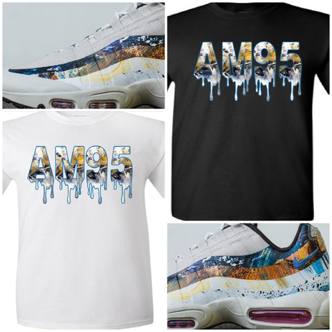 "EXCLUSIVE TEE SHIRT to match the DAVID WHITE x NIKE AIR MAX 95 ALBION COLLECTION! ""RABBIT"""