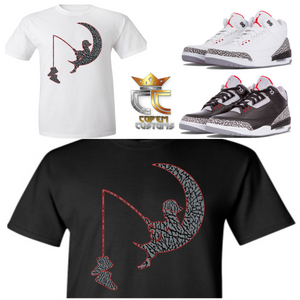 EXCLUSIVE TEE/T SHIRT 4 to match NIKE AIR JORDAN 3 CEMENTS JTH TINKERS or ANY ELEPHANT PRINTS!