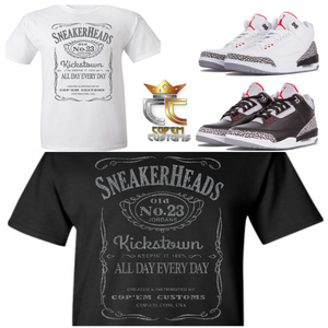 EXCLUSIVE TEE/T SHIRT 1 to match NIKE AIR JORDAN 3 CEMENTS JTH TINKERS or ANY ELEPHANT PRINTS!