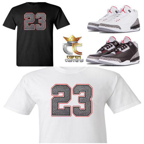 2dd4c4014170 EXCLUSIVE TEE T SHIRT 2 to match NIKE AIR JORDAN 3 CEMENTS JTH TINKERS or