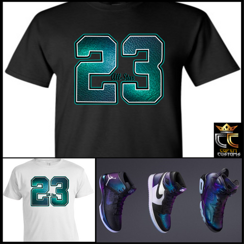 EXCLUSIVE TEE/T-SHIRT 2 TO MATCH AIR JORDAN 1, 6 & 31 2017 ALL STAR COLLECTION