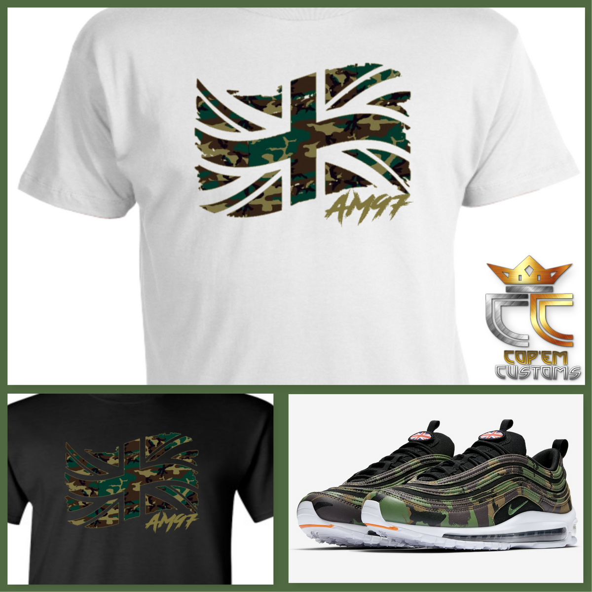fade8504ee EXCLUSIVE TEE / T-SHIRT to match NIKE AIR MAX 97 COUNTRY CAMO PACK UK – Cop'em  Customs