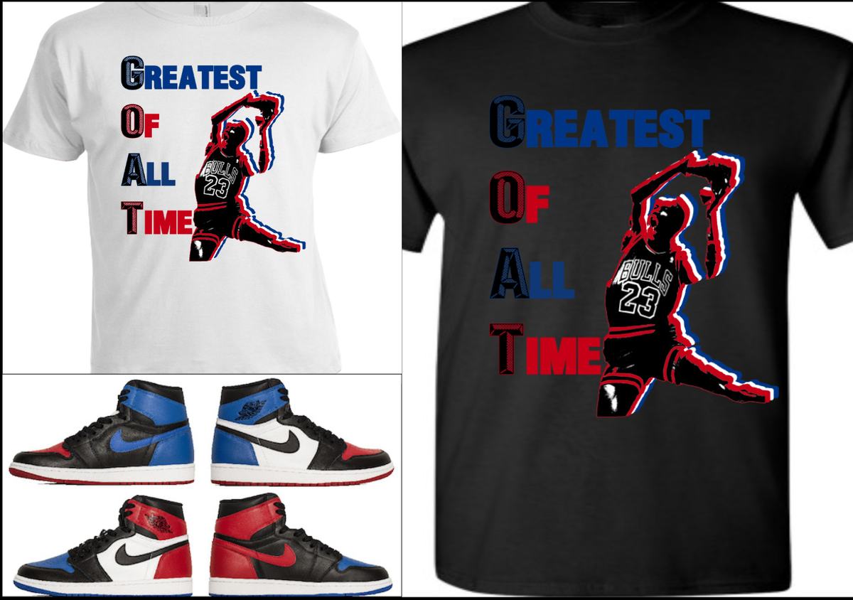 sports shoes 07d95 960d3 EXCLUSIVE TEE T-SHIRT  2 to match ANY NIKE AIR JORDAN 1 (TOP 3 BANNED –  Cop em Customs