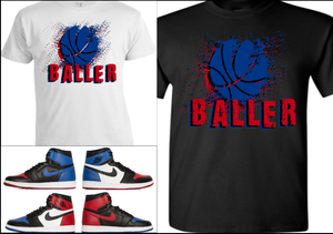 EXCLUSIVE TEE/T-SHIRT #3 to match ANY NIKE AIR JORDAN 1 (TOP 3/BANNED BREDS/ROYALS/CHICAGOS/BLACK TOES/etc)