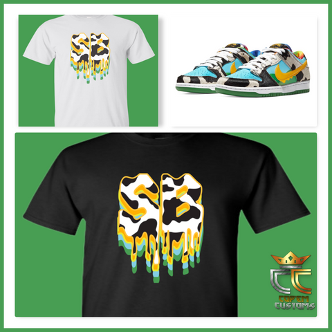 EXCLUSIVE TEE SHIRT TO MATCH the Ben & Jerry's x Nike SB Dunk Chunky Dunky