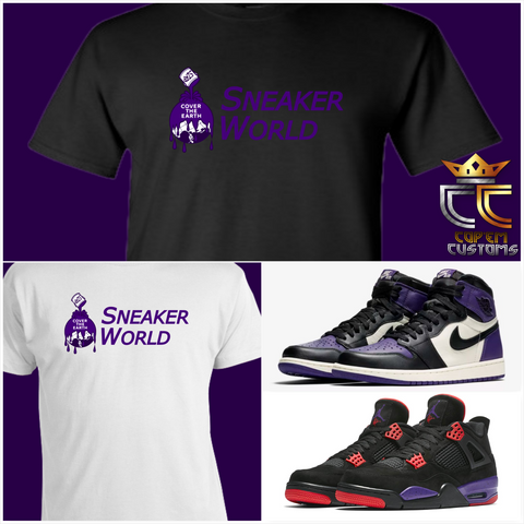 EXCLUSIVE TEE/T-SHIRT 4 to match NIKE AIR JORDAN 1 COURT PURPLE or RAPTORS