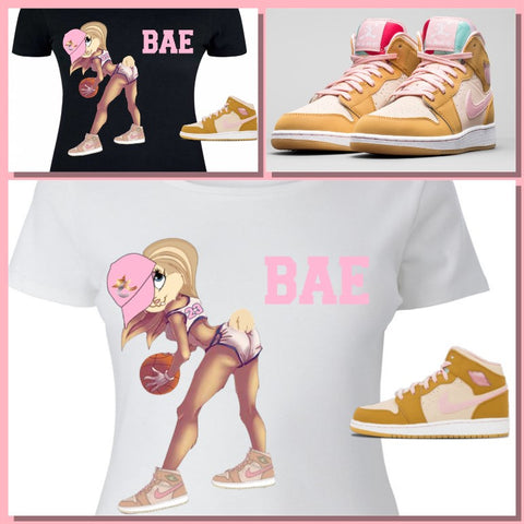 LADIES / WOMENS TEE SHIRT to match the NIKE AIR JORDAN 1 OR 7 LOLA'S!