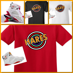 "EXCLUSIVE SHIRT to match the NIKE AIR JORDAN 7 HARES! ""HARES TUNNEL"""