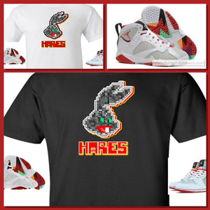 "EXCLUSIVE SHIRT to match the NIKE AIR JORDAN 1 OR 7 HARES! ""DIGIHARE"""