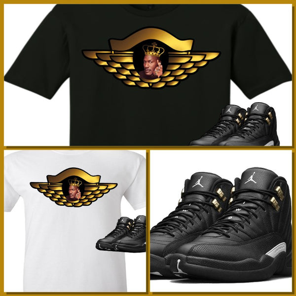EXCLUSIVE SHIRT to match the NIKE AIR JORDAN 12 MASTERS! GOLD WING