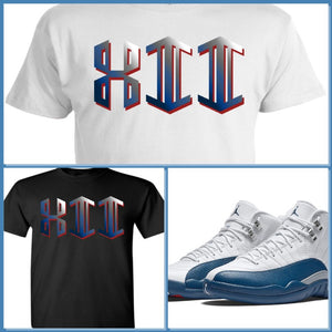 EXCLUSIVE SHIRT to match the NIKE AIR JORDAN 12 FRENCH BLUE! GEO XII
