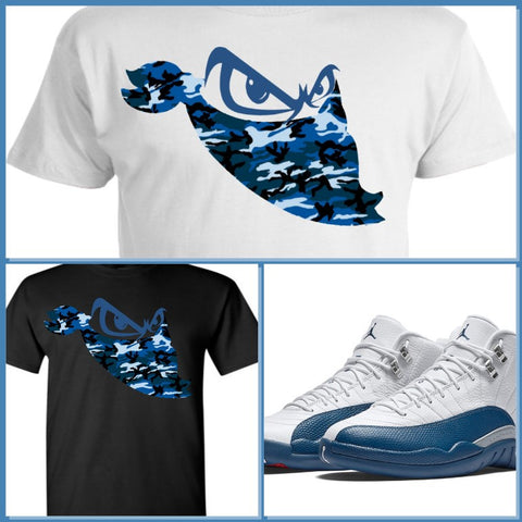 EXCLUSIVE SHIRT to match the NIKE AIR JORDAN 12 FRENCH BLUE! BLUE BANDIT