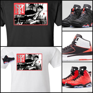 EXCLUSIVE SCARFACE TEE/T-SHIRT WITH **3M** to match ANY NIKE AIR JORDAN INFRARED & MORE!