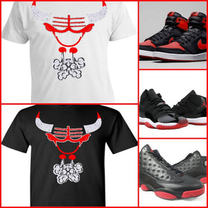 EXCLUSIVE TEE/T-SHIRT to match any NIKE AIR JORDAN BREDS OR BULLS OVER BROADWAY!