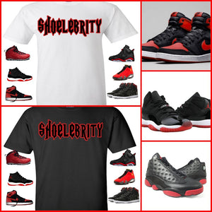 EXCLUSIVE TEE/T-SHIRT to match any NIKE JORDAN BREDS OR BULLS OVER BROADWAY!