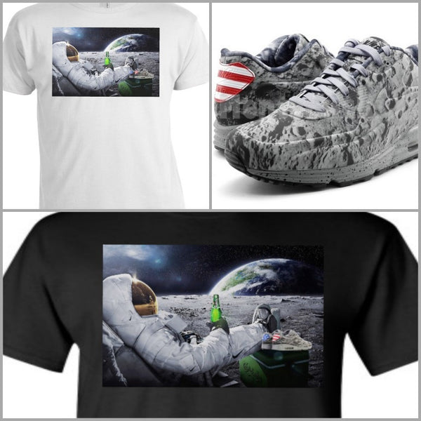 EXCLUSIVE TEE/T-SHIRT! Astronaut Moon to match the Nike Air Max Lunar 90 Moonlanding!