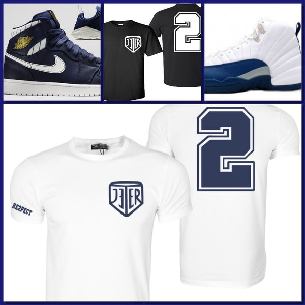 EXCLUSIVE SHIRT to match the AIR JORDAN JETERS or FRENCH BLUES!