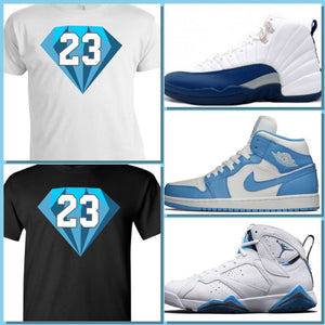 EXCLUSIVE SHIRT to match ANY BLUE NIKE AIR JORDAN!