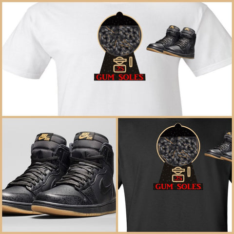 EXCLUSIVE SHIRT to match the NIKE AIR JORDAN 1 RETRO GUM SOLES!