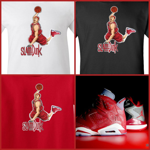EXCLUSIVE SHIRT to match the NIKE AIR JORDAN 6 SLAMDUNK SAKURAGI!