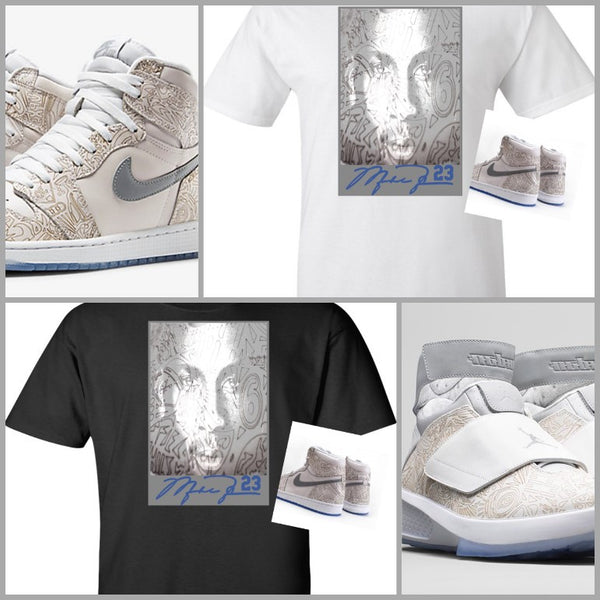 EXCLUSIVE SHIRT to match the NIKE AIR JORDAN LASERS!