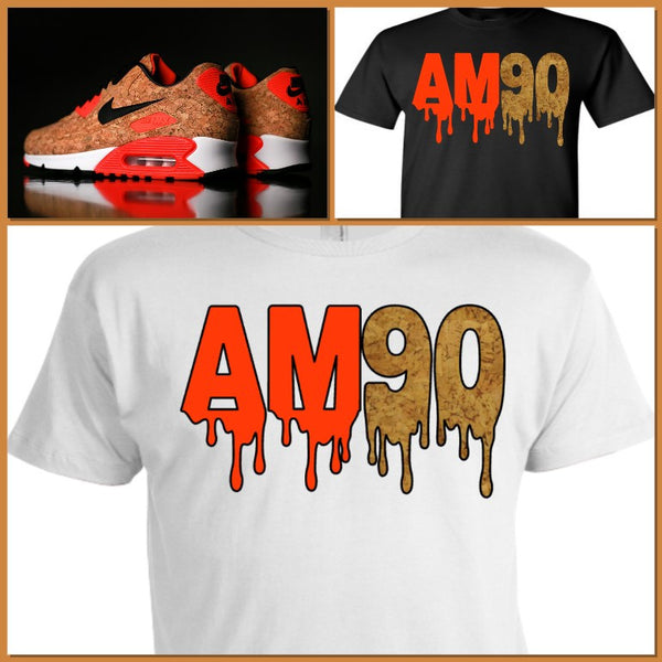 "EXCLUSIVE SHIRT to match the NIKE AIR MAX 90 CORKS! ""CORK DRIP"""