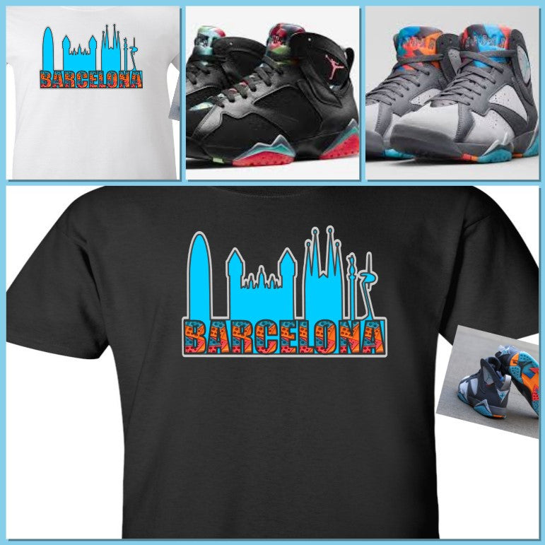 4228eed81459 EXCLUSIVE TEE SHIRT to match the NIKE AIR JORDAN 7 VII BARCELONA DAYS OR  NIGHTS- ...
