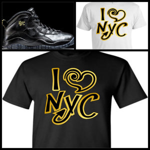 EXCLUSIVE SHIRT to match the NIKE AIR JORDAN X 10 NYC! I <3 NYC