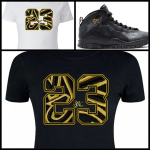 LADIES / WOMENS TEE SHIRT to match the NIKE AIR JORDAN XII 12 MASTERS OR JORDAN X 10 NYC!